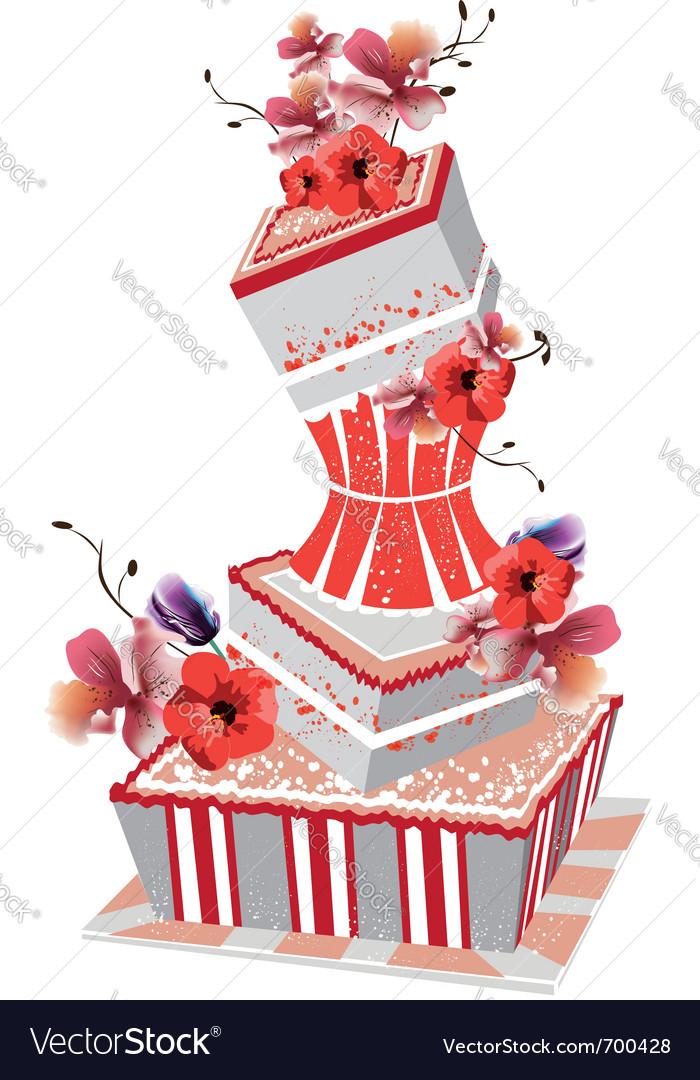 Big wedding cake vector | Price: 1 Credit (USD $1)
