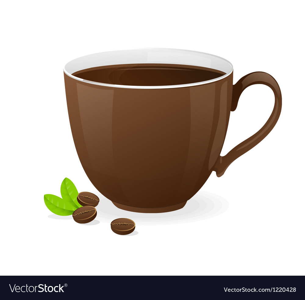 Brown cup of coffee vector | Price: 3 Credit (USD $3)