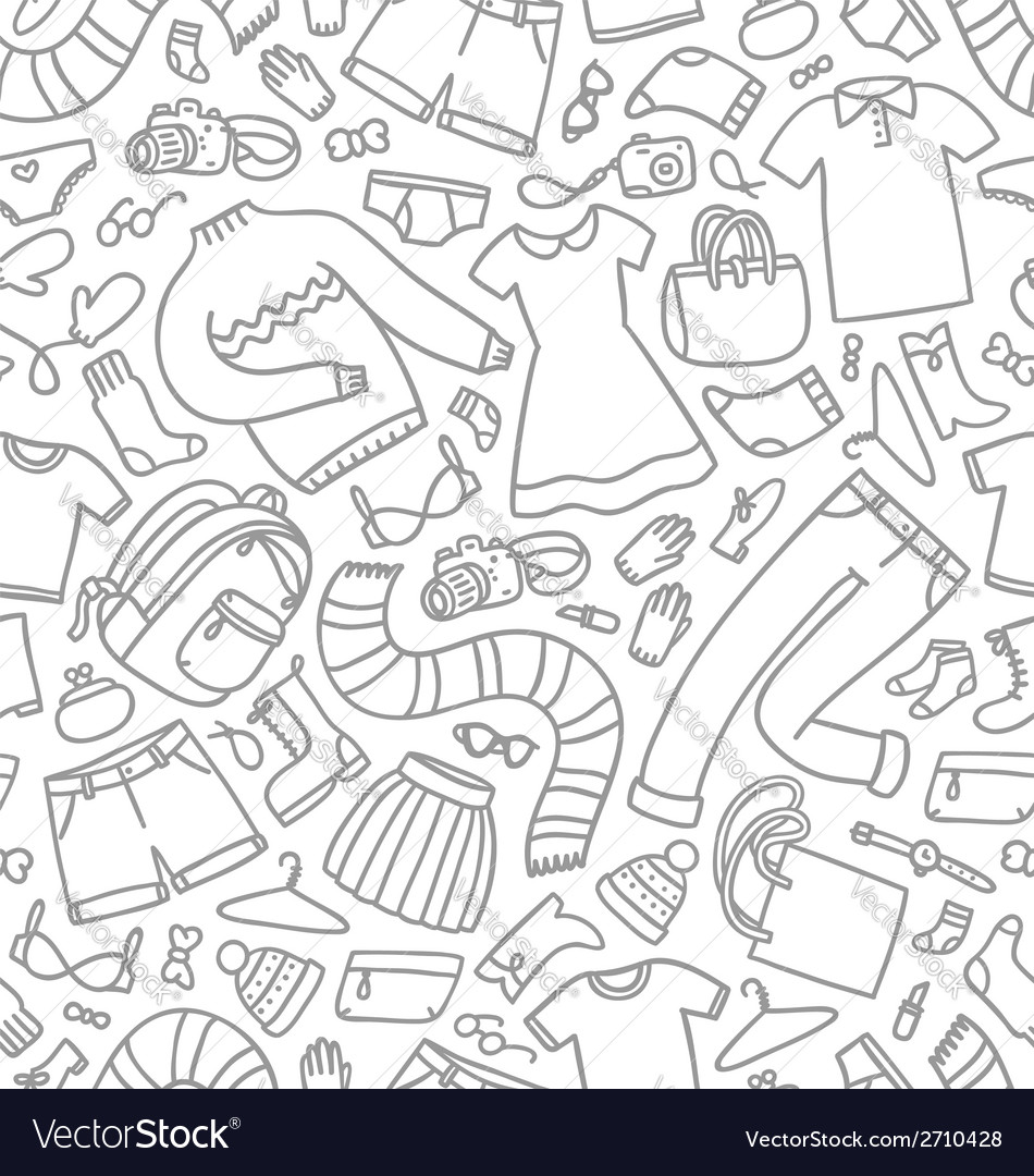 Clothes seamless pattern vector   Price: 1 Credit (USD $1)