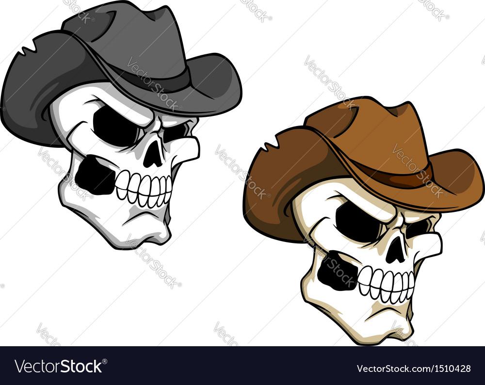 Cowboy skull vector | Price: 1 Credit (USD $1)