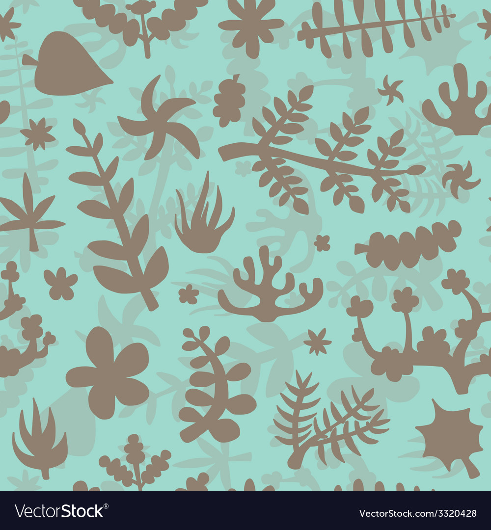 Hand drawn doodle plants background vector | Price: 1 Credit (USD $1)