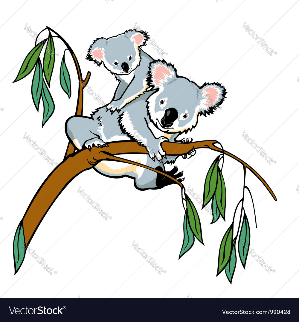 Koala with joey vector | Price: 1 Credit (USD $1)