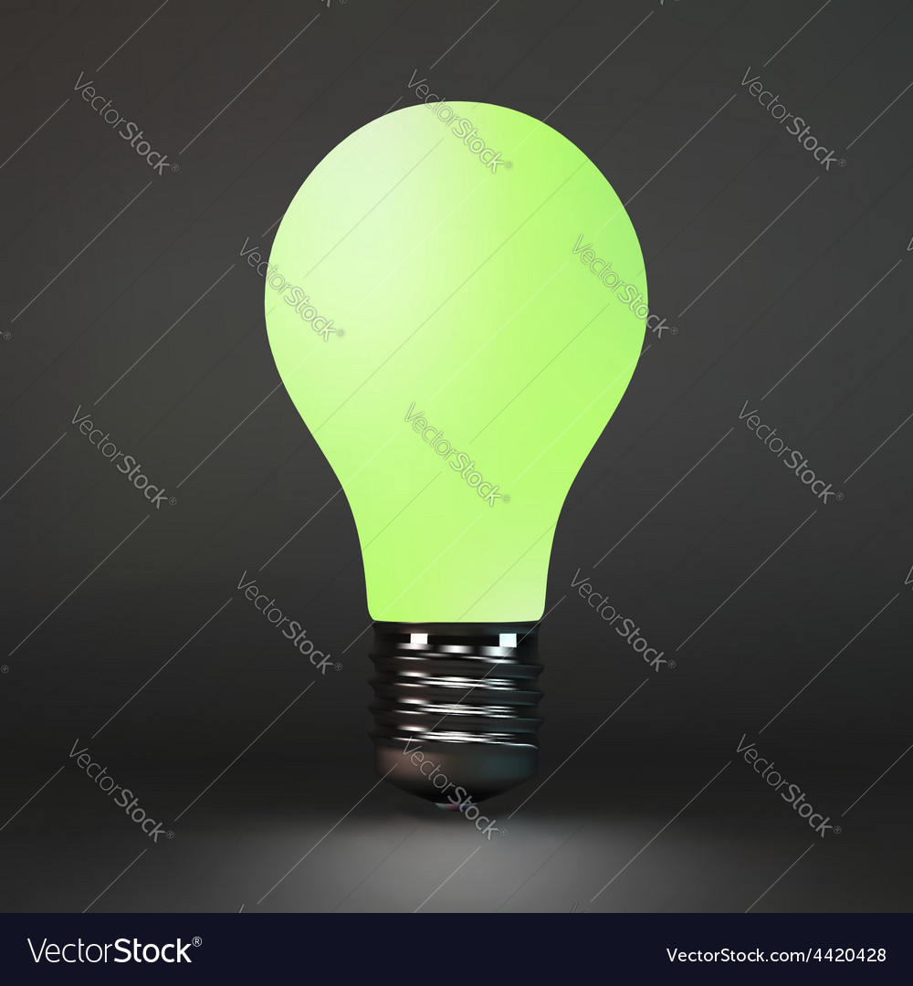 Lightbulb idea symbol 3d vector | Price: 1 Credit (USD $1)