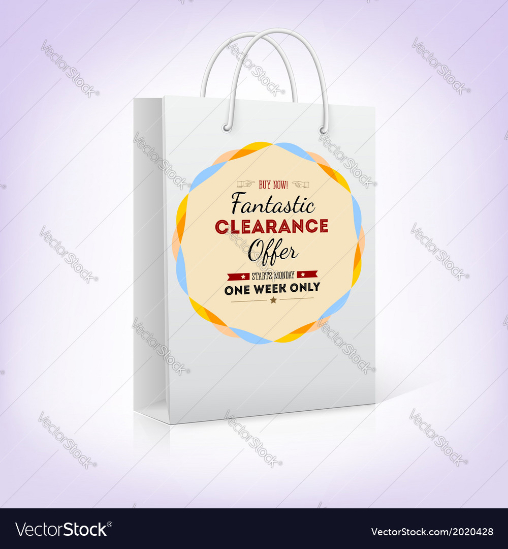 Paper shopping bag with bright pattern fantastic vector   Price: 1 Credit (USD $1)