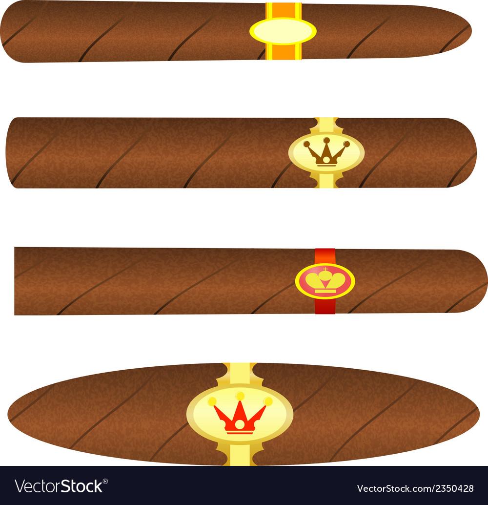 Set kubinskiyh cigars on white background vector   Price: 1 Credit (USD $1)
