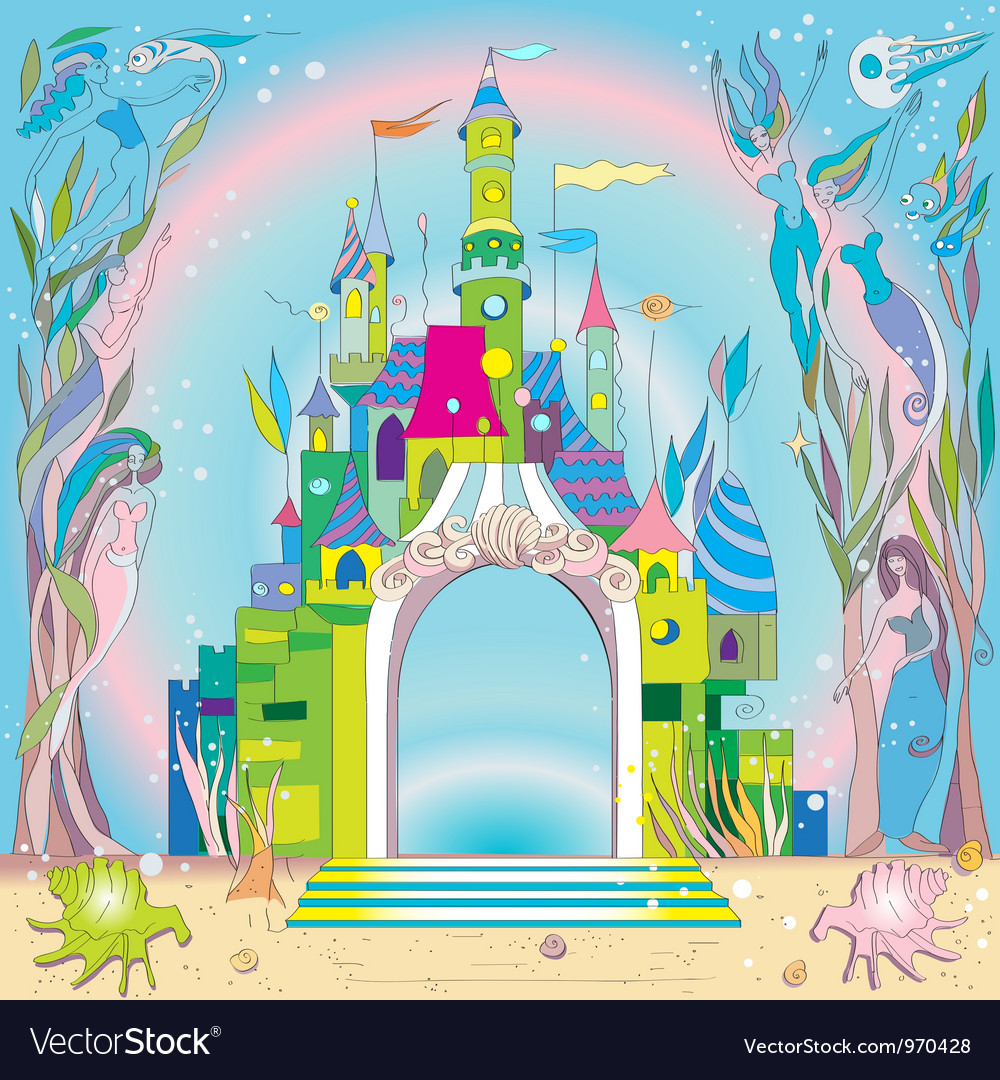 Underwater castle vector | Price: 1 Credit (USD $1)