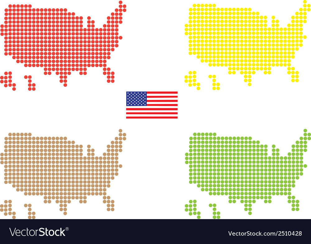 Usa maps vector | Price: 1 Credit (USD $1)