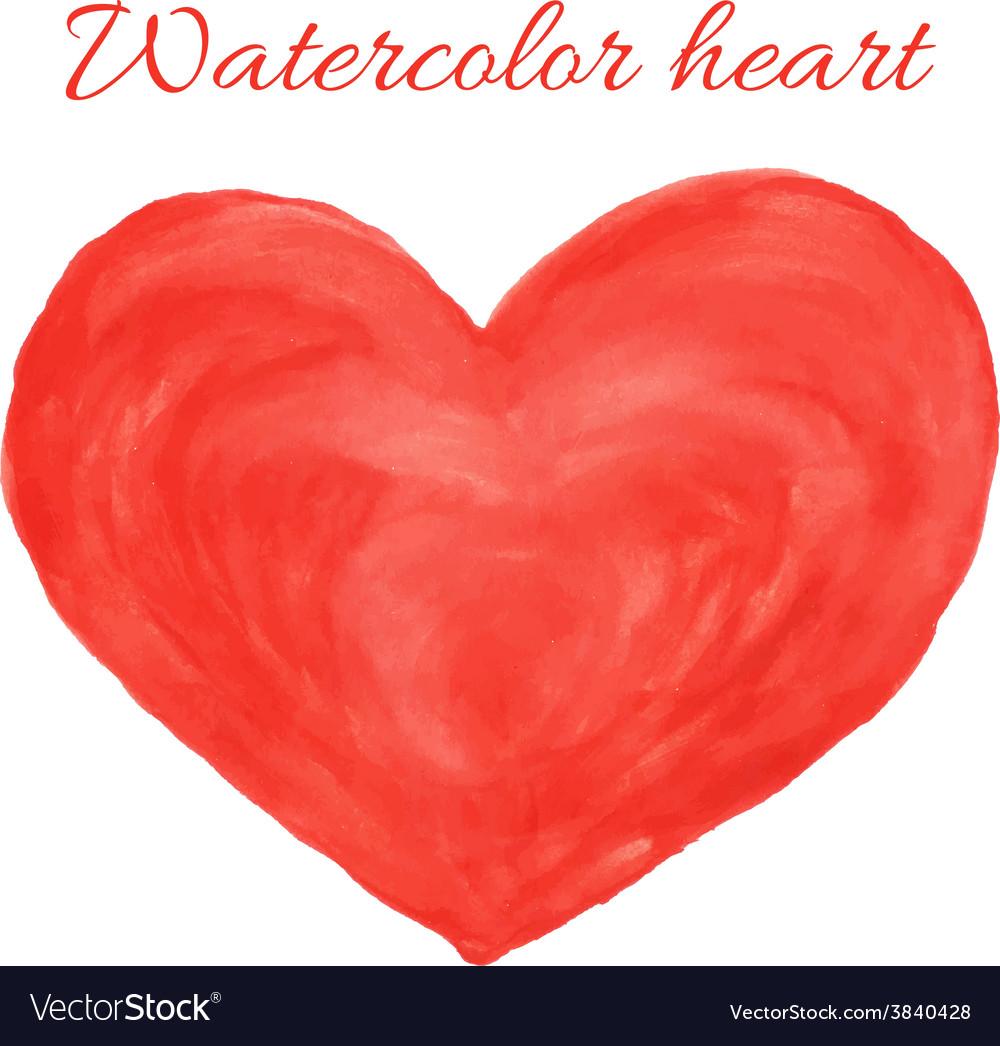 Watercolor heart vector   Price: 1 Credit (USD $1)