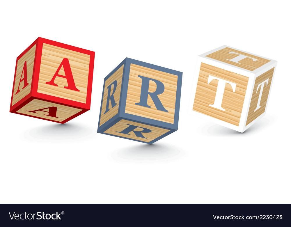 Word art written with alphabet blocks vector | Price: 1 Credit (USD $1)