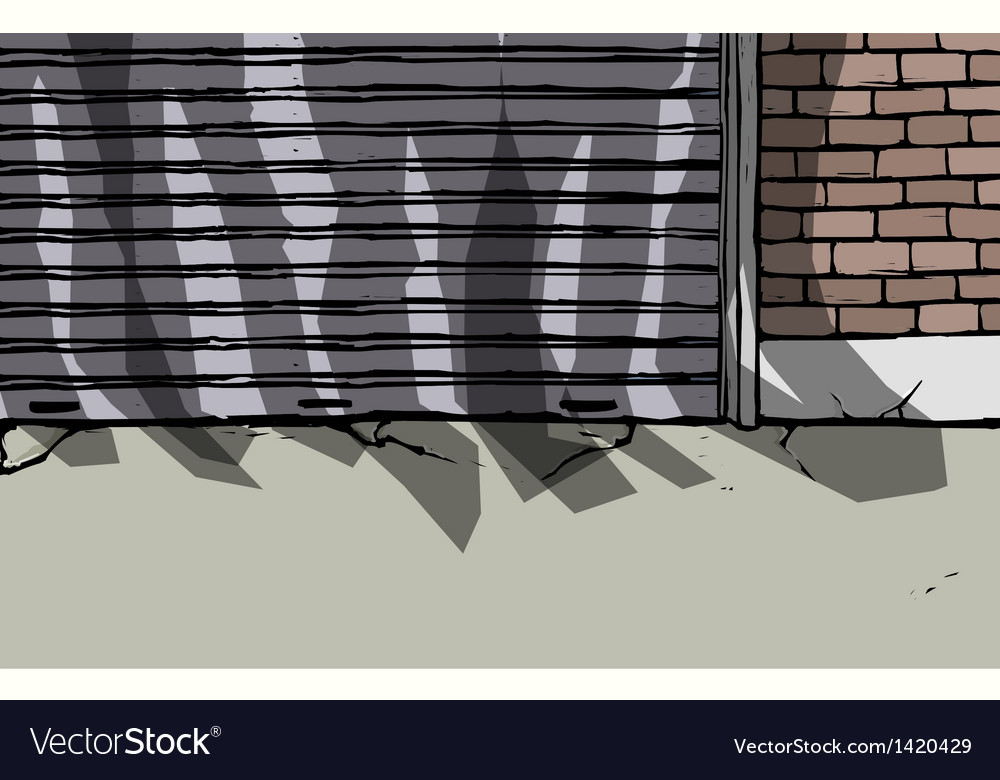 Back alley scene vector | Price: 1 Credit (USD $1)