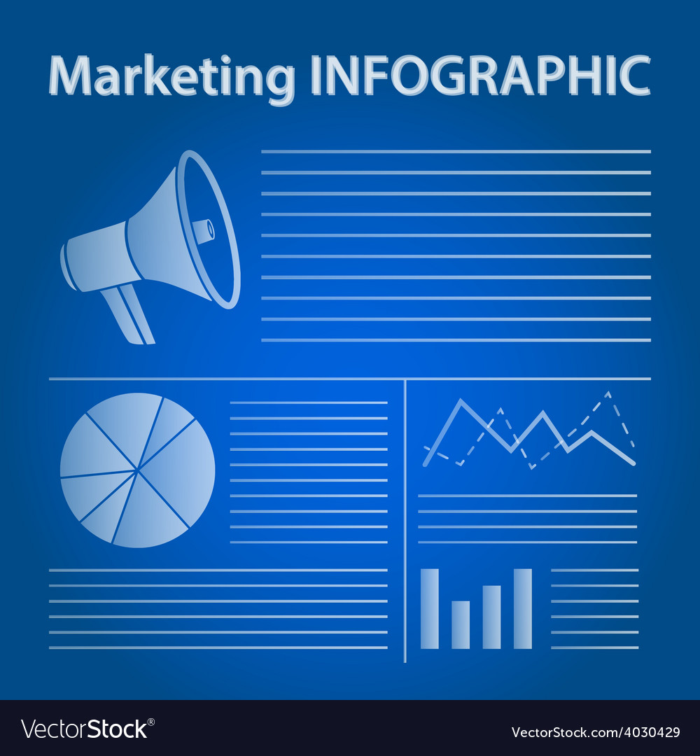 Blue marketing infographic concept vector | Price: 1 Credit (USD $1)