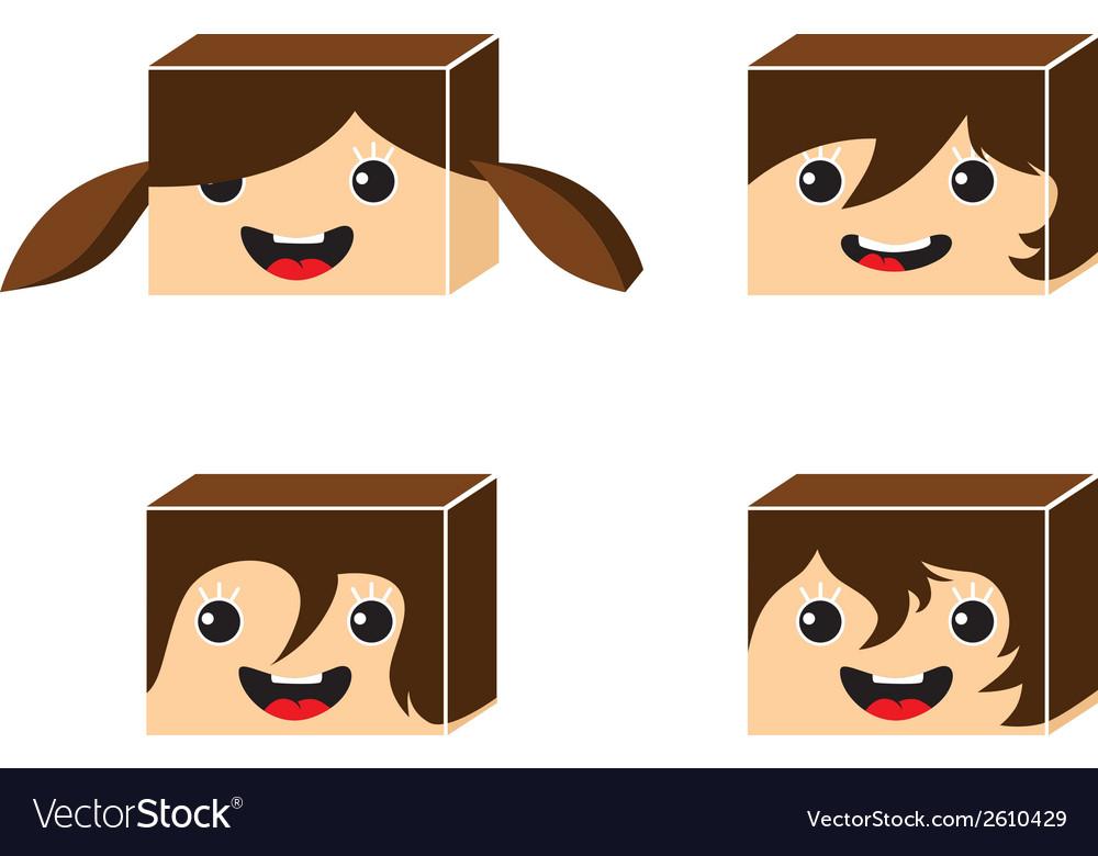 Cartoon cube vector | Price: 1 Credit (USD $1)