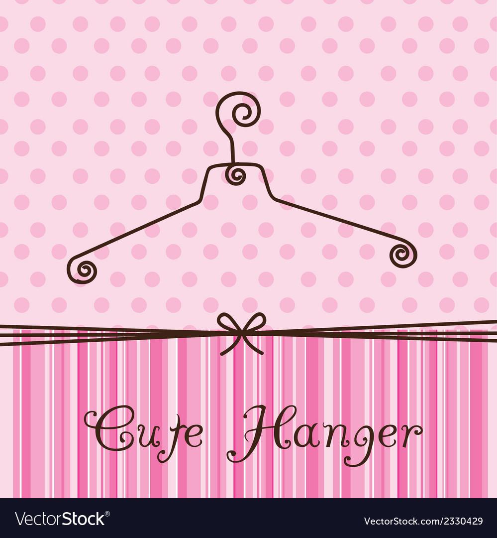 Cute hanger vector | Price: 1 Credit (USD $1)