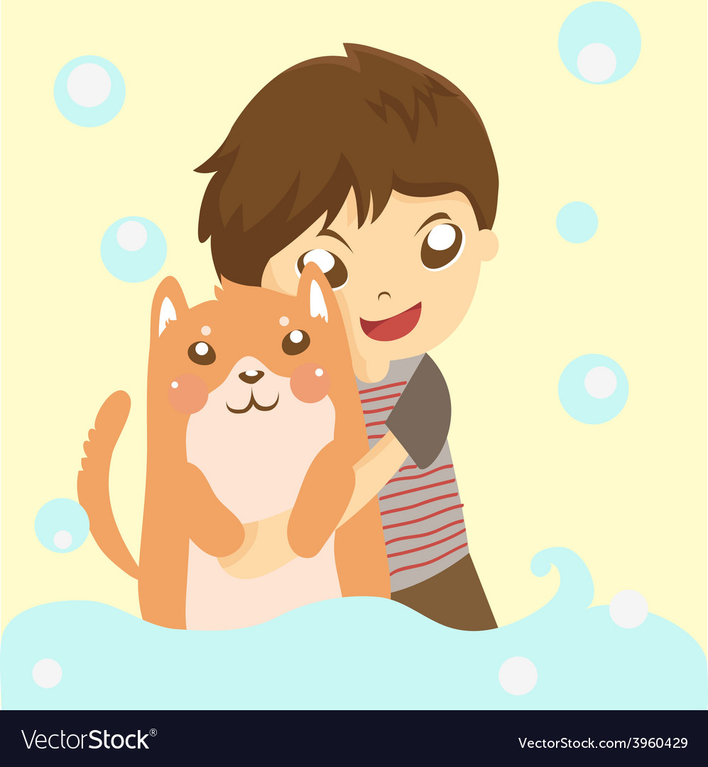 Dog and me vector | Price: 1 Credit (USD $1)