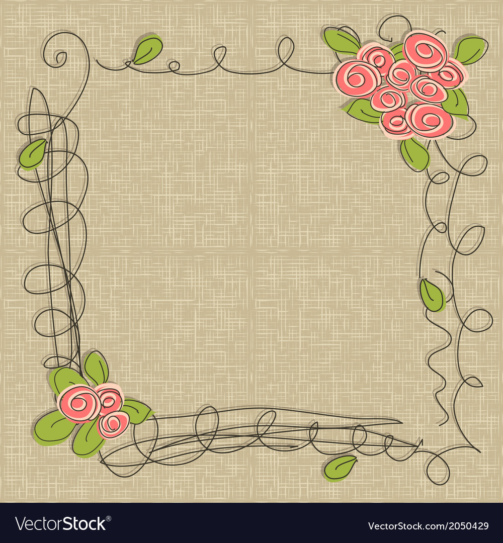Doodle floral frames vector | Price: 1 Credit (USD $1)