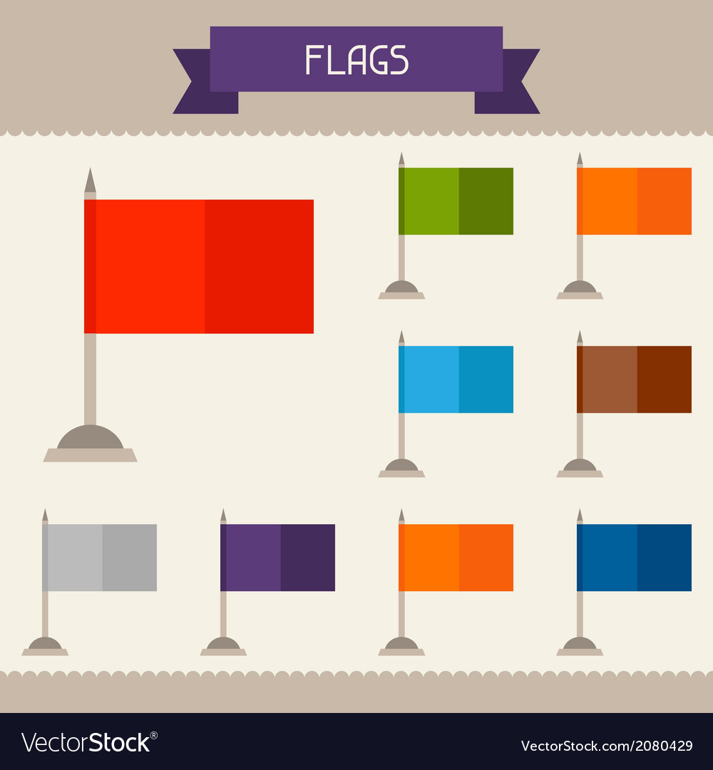 Flags colored templates for your design in flat vector | Price: 1 Credit (USD $1)