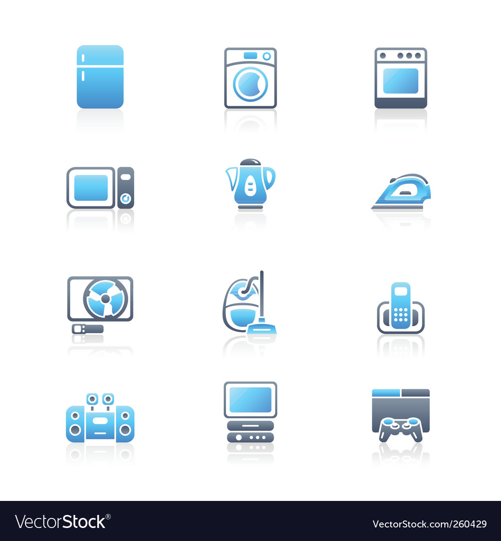 Home electronics icons vector | Price: 1 Credit (USD $1)