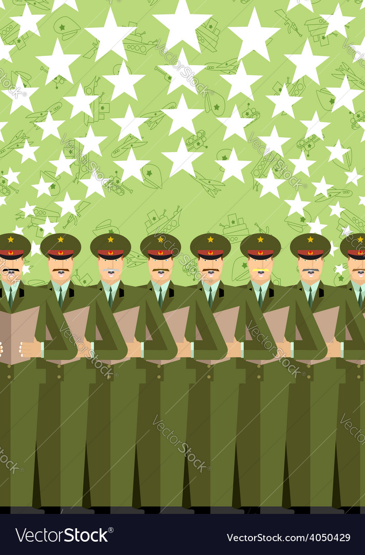 Military choir with fireworks 9 may the soldiers vector | Price: 1 Credit (USD $1)