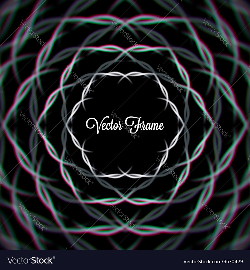 Mystic shiny hex frame with aberrations vector | Price: 1 Credit (USD $1)