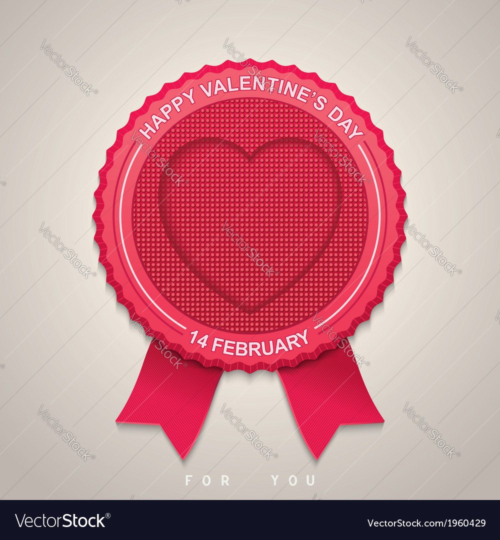 Round label for valentines day vector | Price: 1 Credit (USD $1)