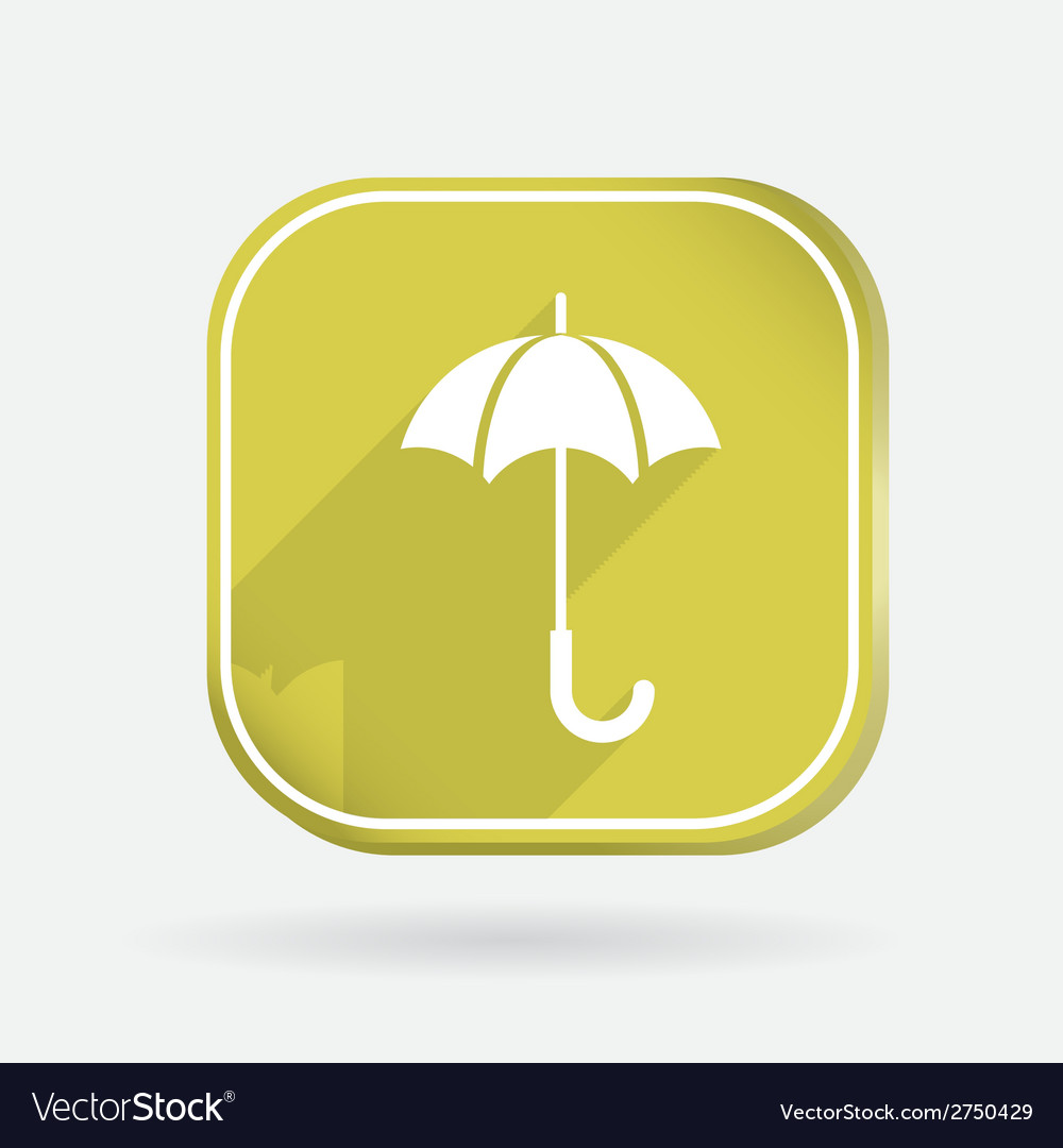 Umbrella color square icon vector | Price: 1 Credit (USD $1)