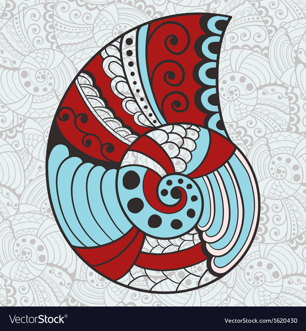 Abstract bright shell vector | Price: 1 Credit (USD $1)