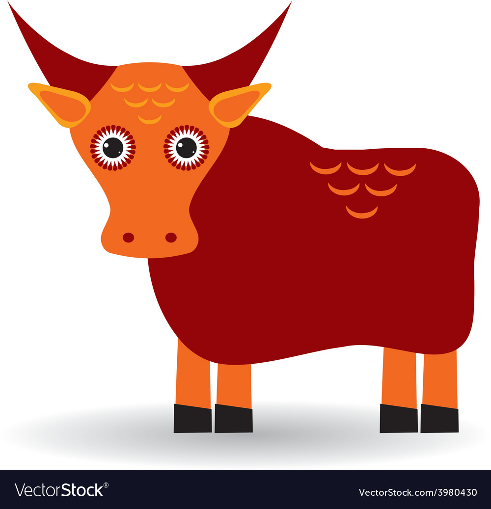 Cartoon of asian yak bull vector | Price: 1 Credit (USD $1)