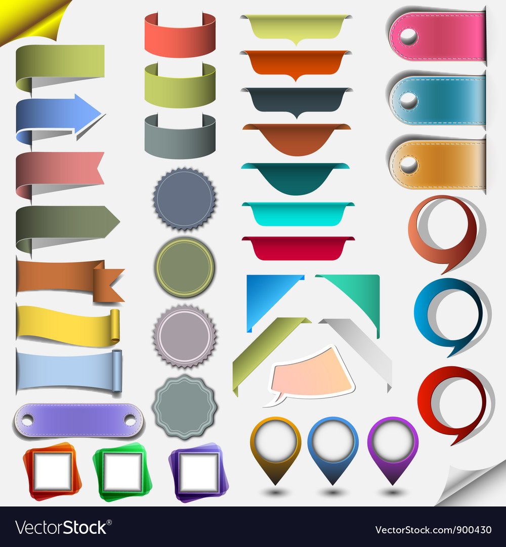 Collection different web elements vector | Price: 3 Credit (USD $3)