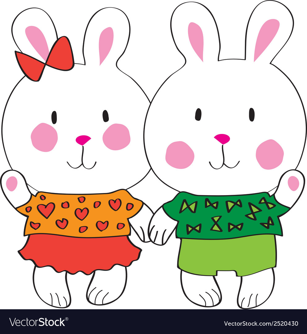 Cute bunny with love letter vector | Price: 1 Credit (USD $1)