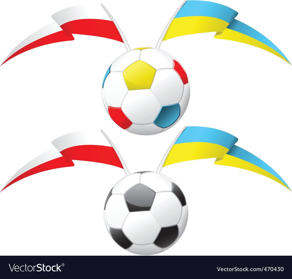 Euro 2012  soccer ball vector | Price: 1 Credit (USD $1)