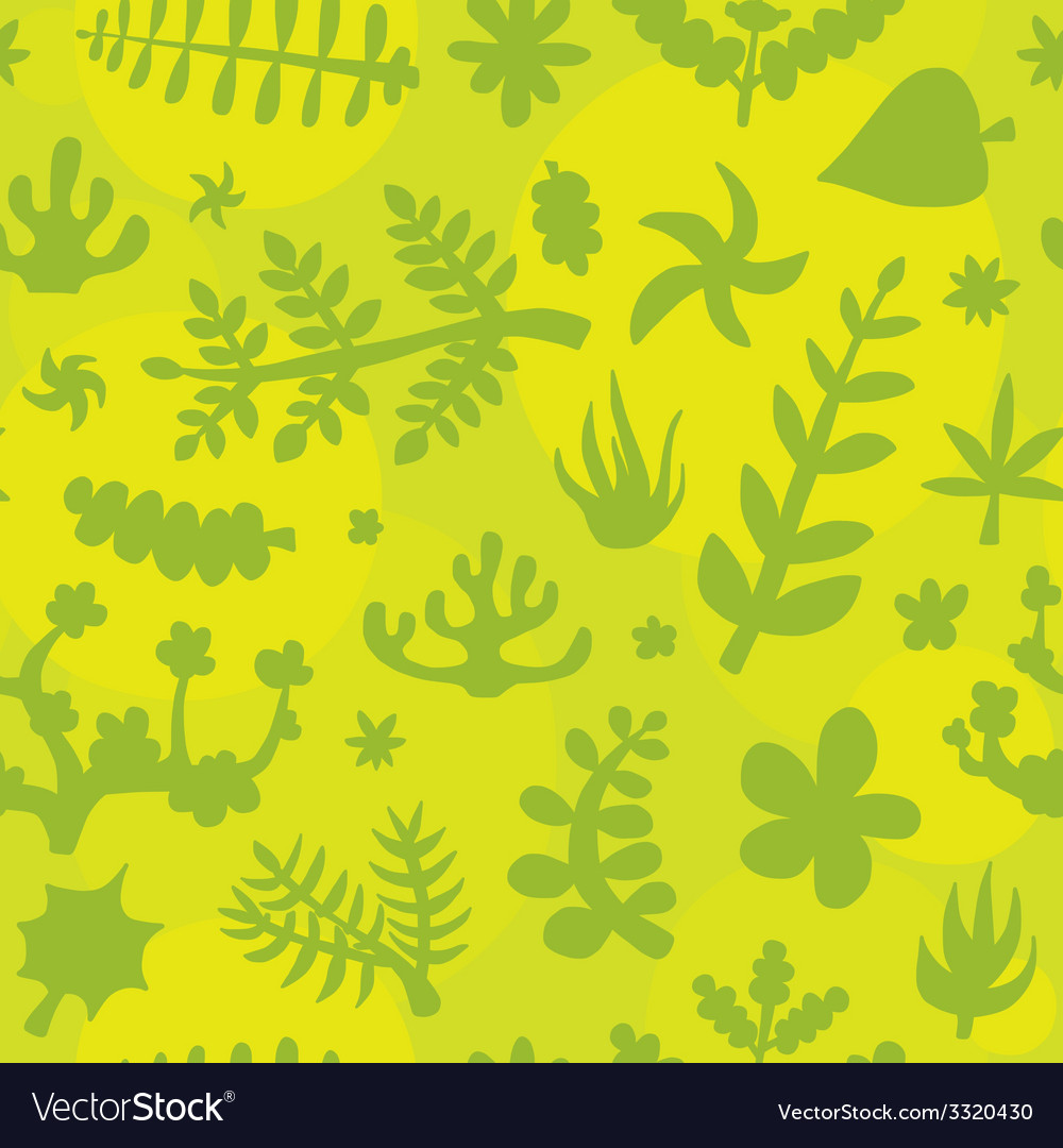 Hand drawn doodle plants pattern vector | Price: 1 Credit (USD $1)