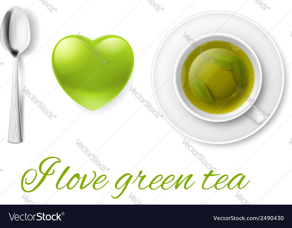 I love tea vector | Price: 1 Credit (USD $1)