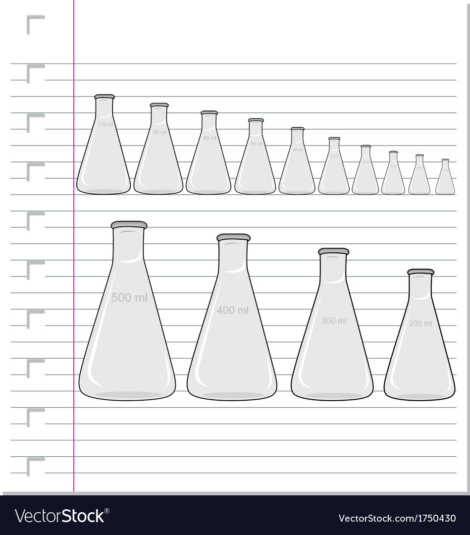 Laboratory glass on paper vector | Price: 1 Credit (USD $1)