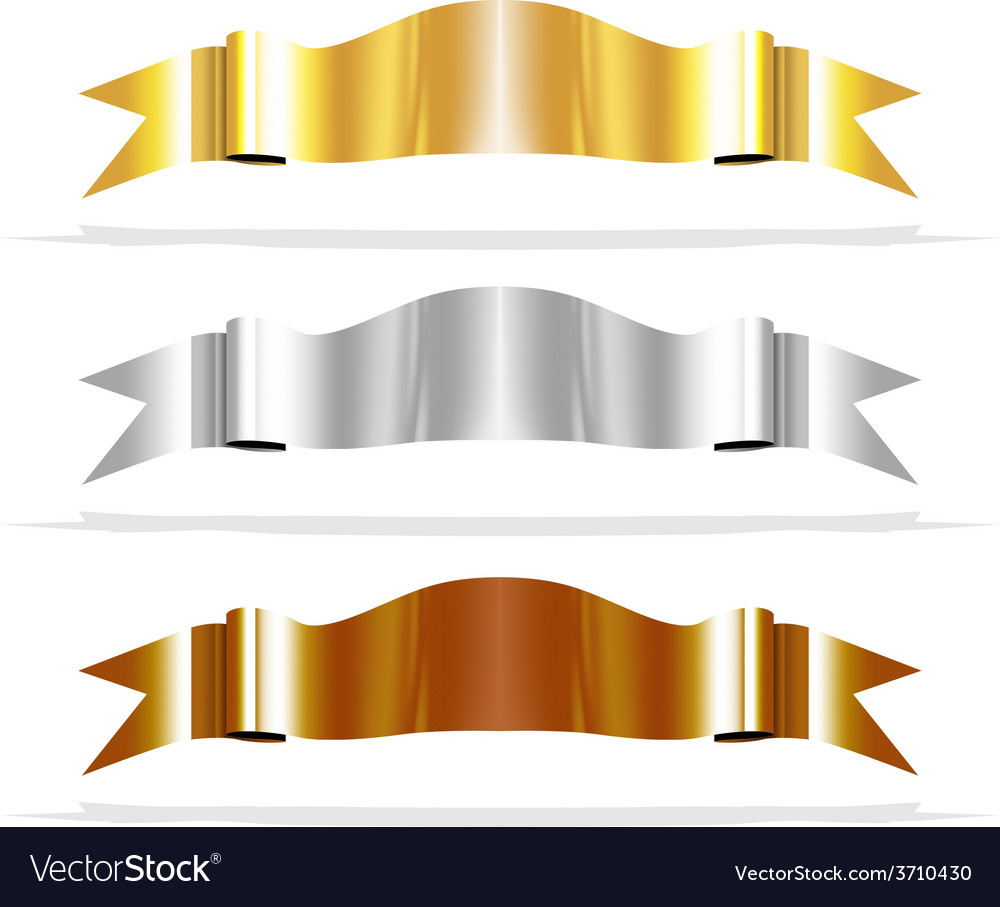 Metalic ribbons for your design project vector | Price: 1 Credit (USD $1)