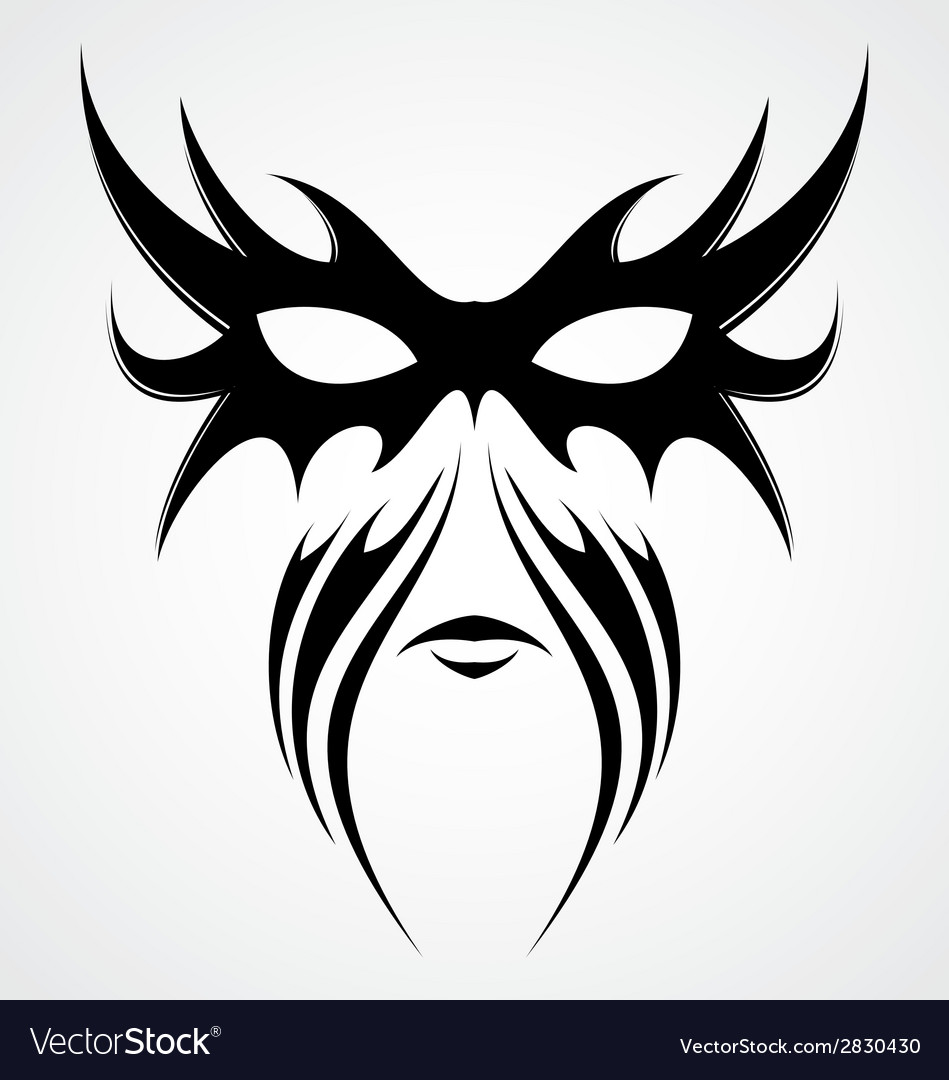 Tribal mask vector | Price: 1 Credit (USD $1)