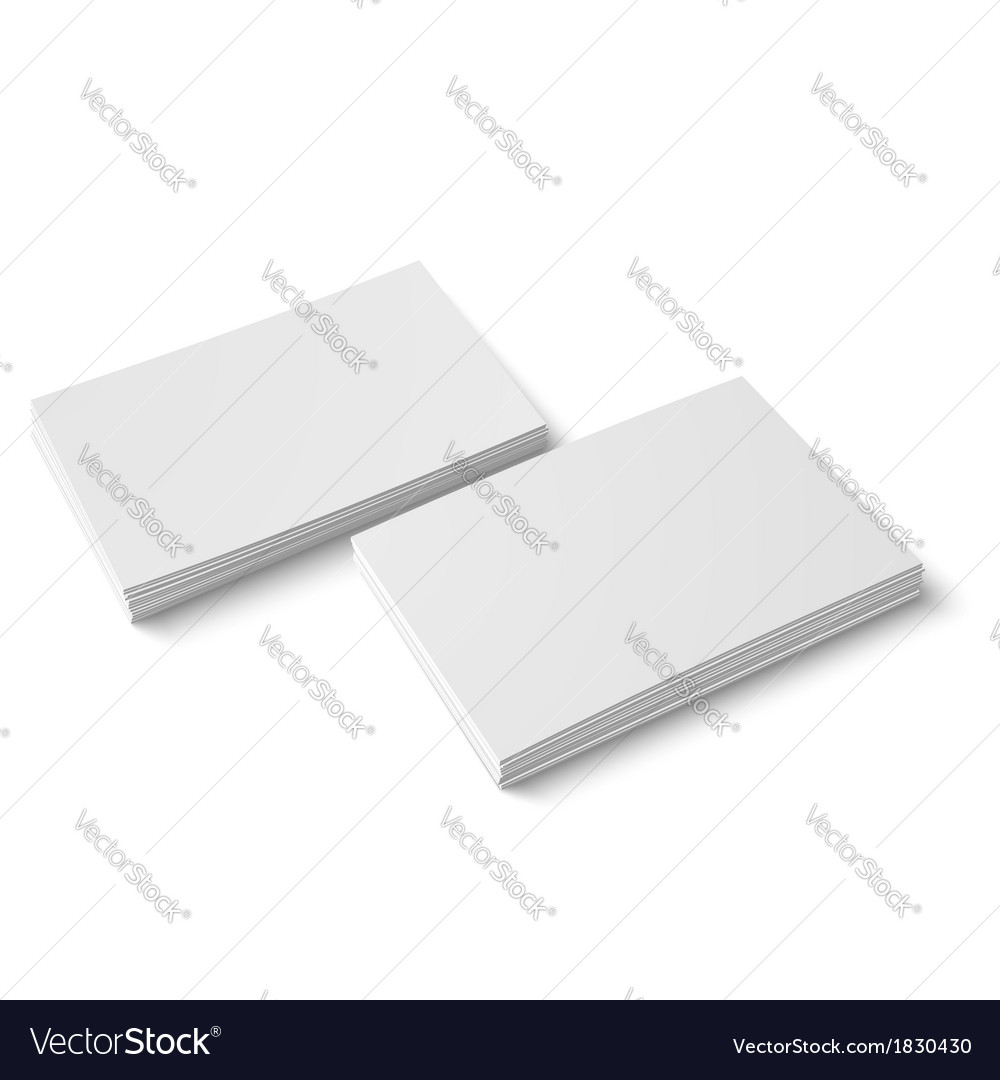 Two stack of blank business card vector | Price: 1 Credit (USD $1)
