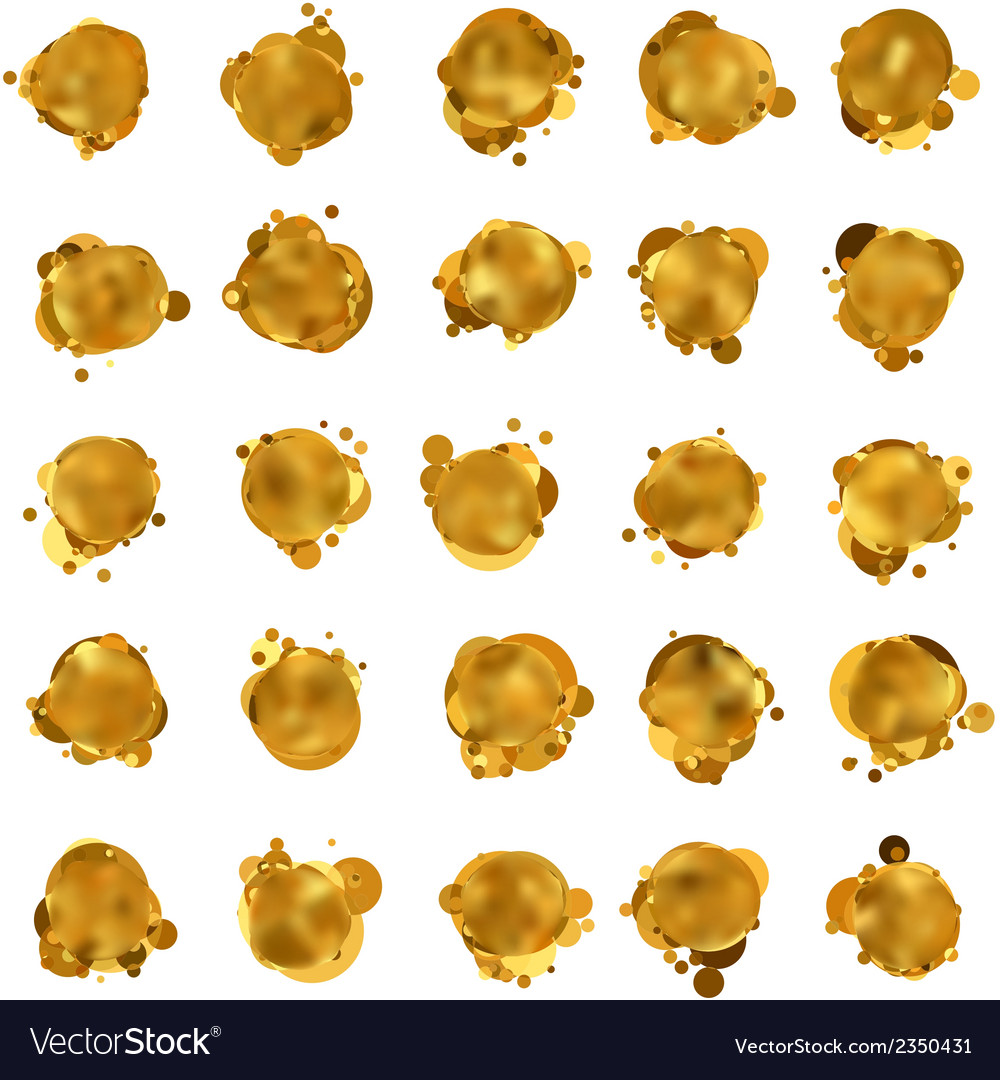 Abstract gold speech bubble eps 8 vector | Price: 1 Credit (USD $1)