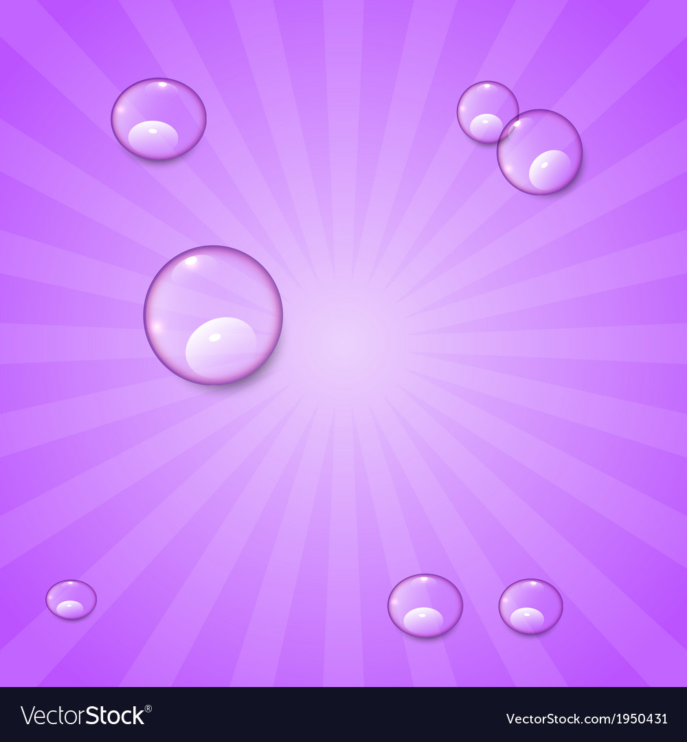 Abstract violet retro background with water drops vector | Price: 1 Credit (USD $1)