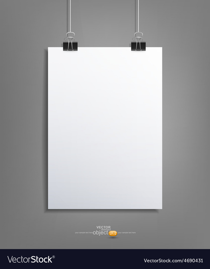 Background with a piece of paper hanging vector | Price: 1 Credit (USD $1)