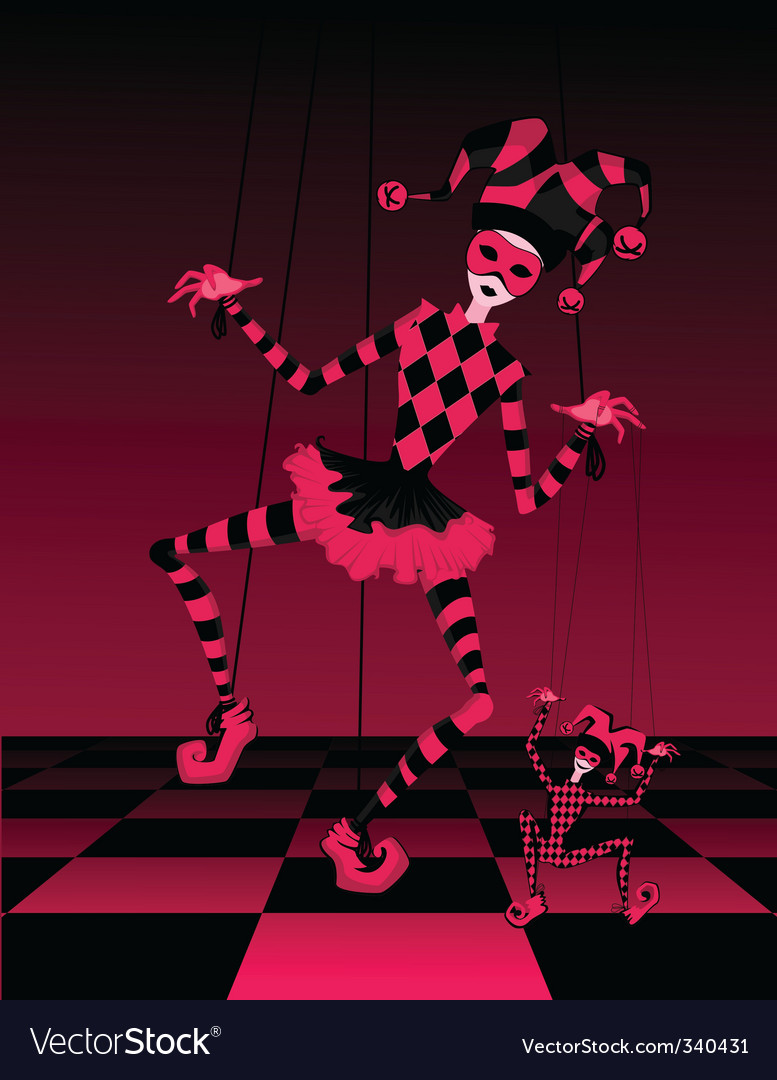 Dancing jester puppets vector | Price: 1 Credit (USD $1)