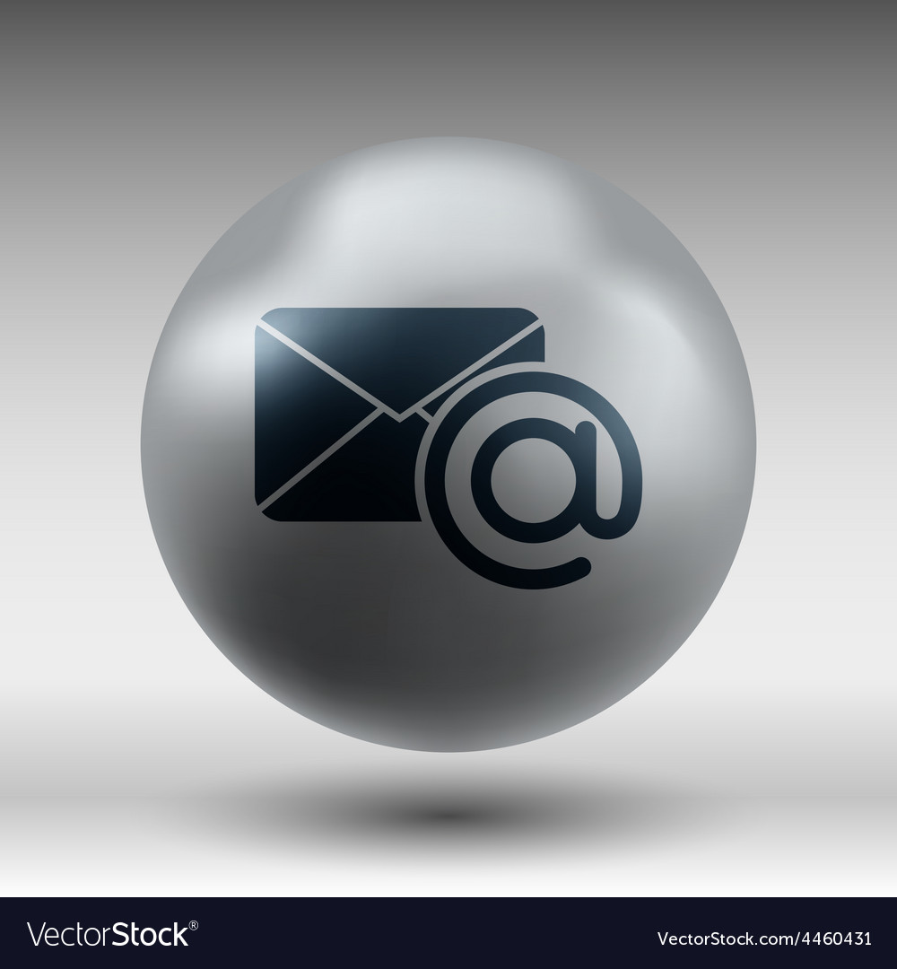 Email icon outbox flat box inbox vector | Price: 1 Credit (USD $1)