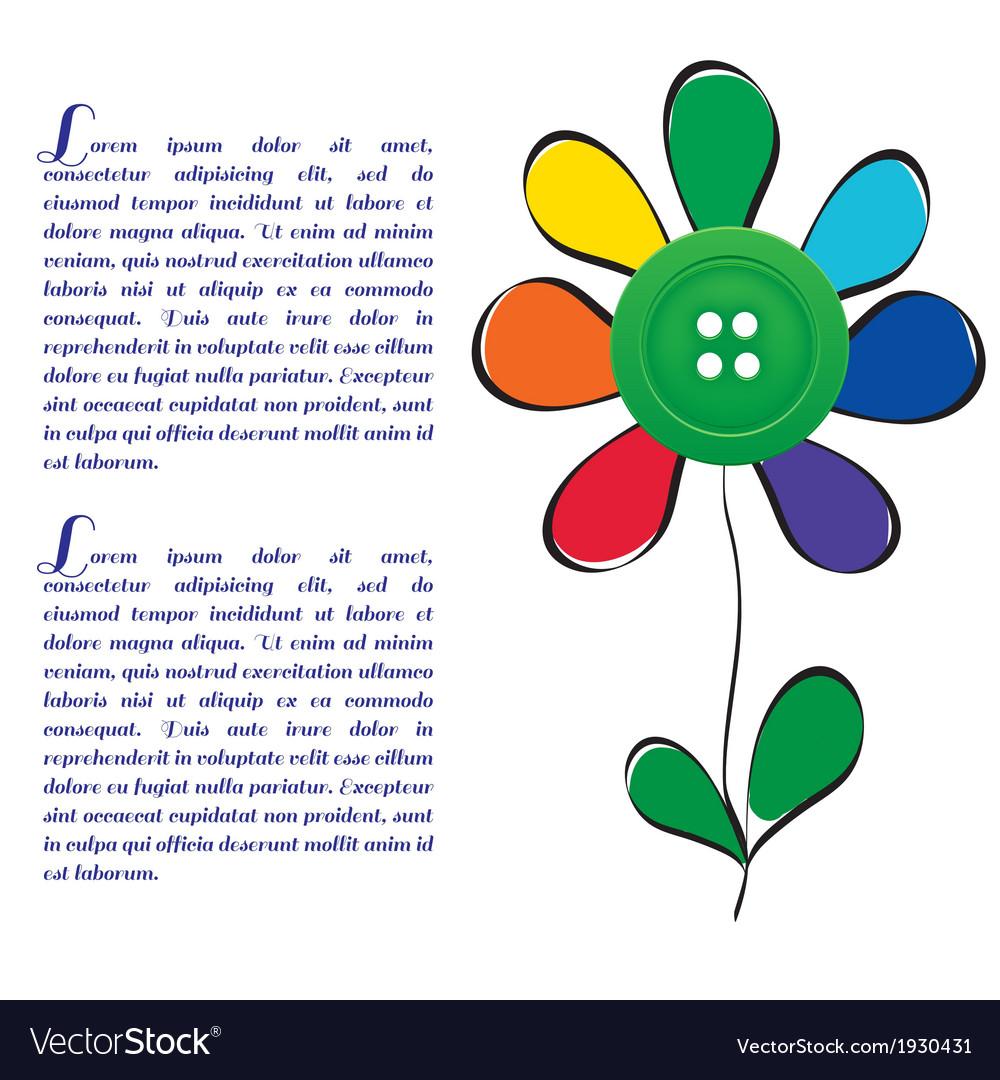 Flower unusual vector | Price: 1 Credit (USD $1)
