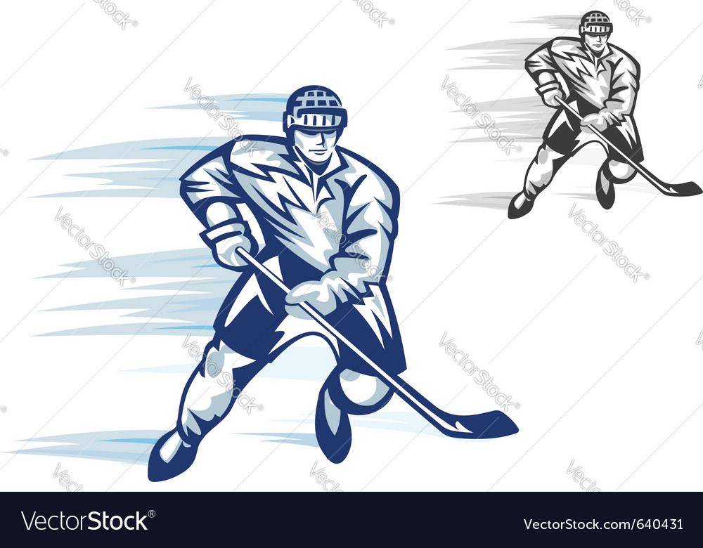 Ice hockey player vector | Price: 1 Credit (USD $1)