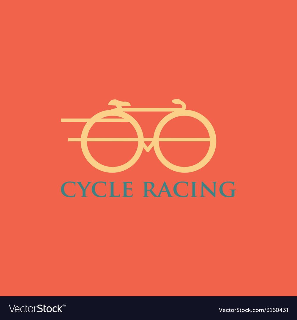 Minimalistic bicycle icon vector | Price: 1 Credit (USD $1)