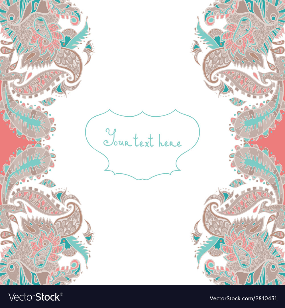 Ornamental invitation card vector | Price: 1 Credit (USD $1)