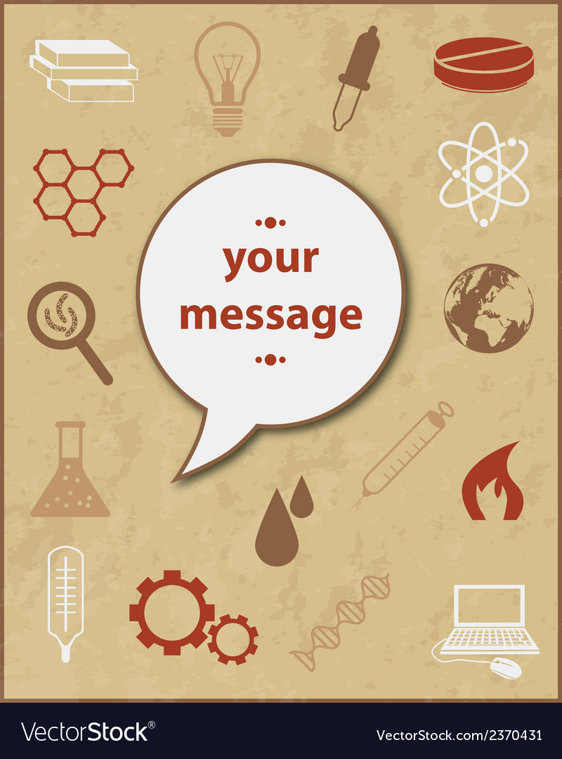 Science poster vector | Price: 1 Credit (USD $1)
