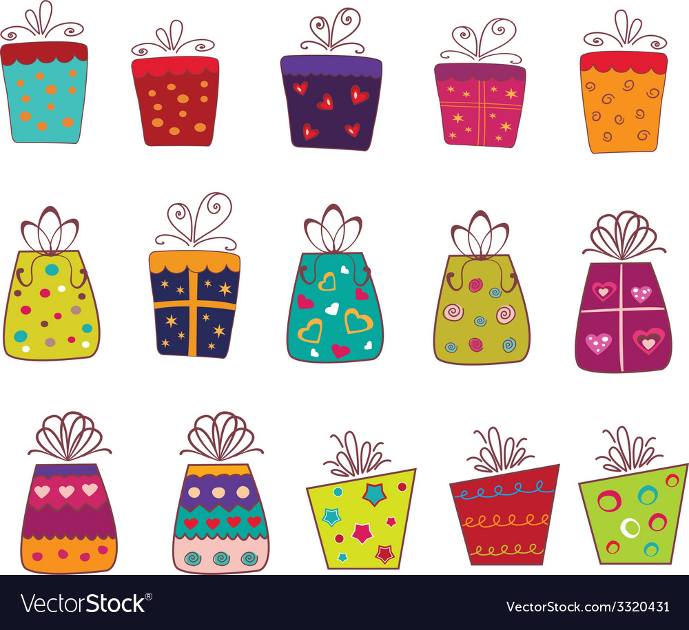 Set of gift boxes vector | Price: 1 Credit (USD $1)