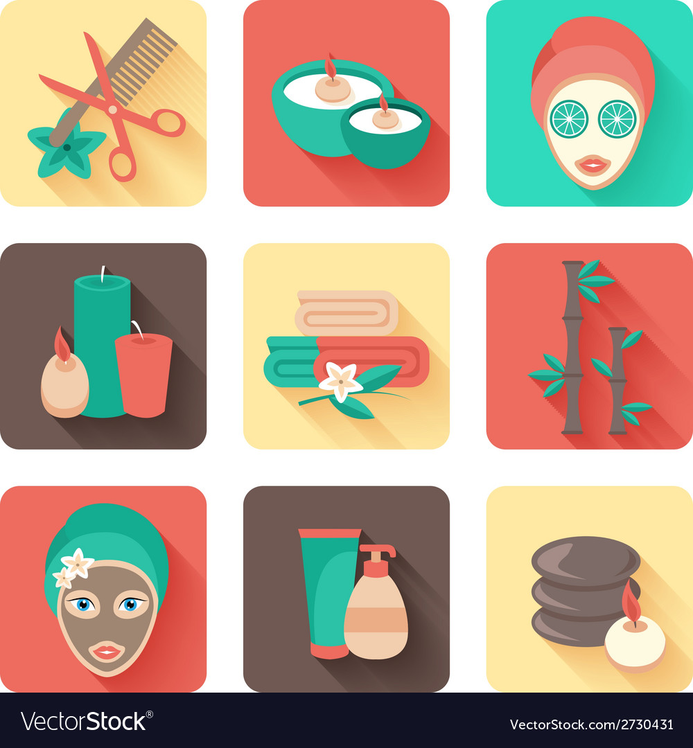 Spa icons set vector | Price: 1 Credit (USD $1)