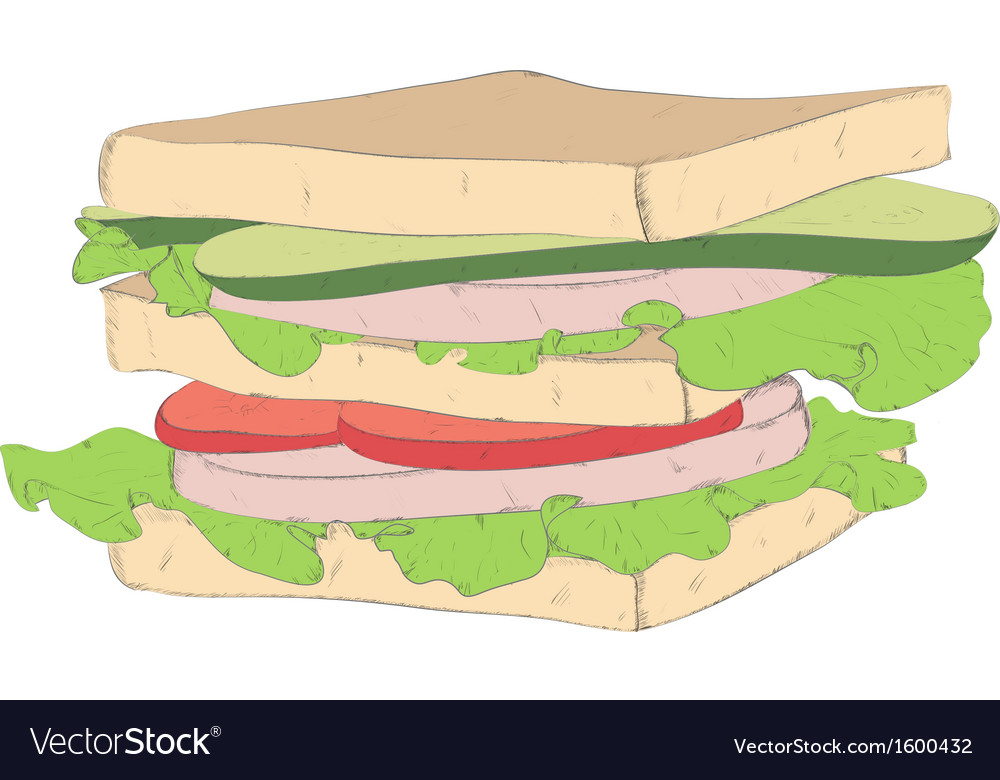 Appetizing sandwich vector | Price: 1 Credit (USD $1)