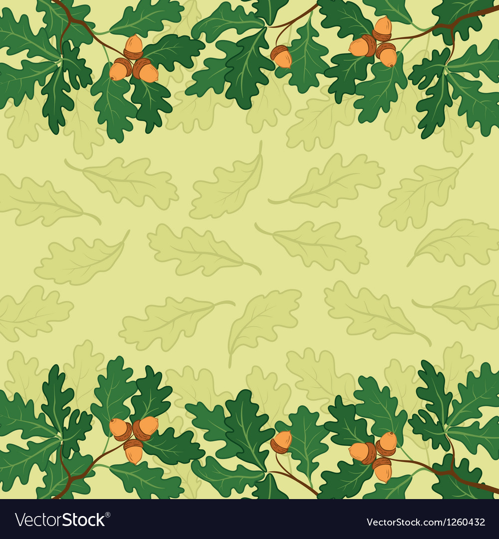 Background oak branch and leaves vector | Price: 1 Credit (USD $1)